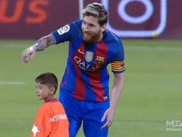 Murtaza junto a Leo Messi en Doha