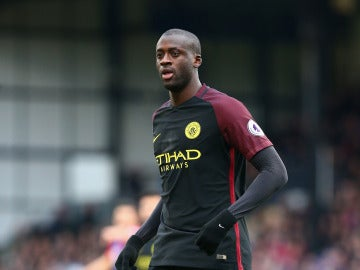 Yaya Touré, durante un partido con el Manchester City