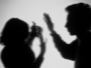 Recreación de una escena de violencia machista