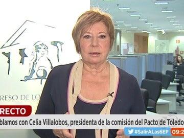 Celia Villalobos, presidenta de la comisión del Pacto de Toledo
