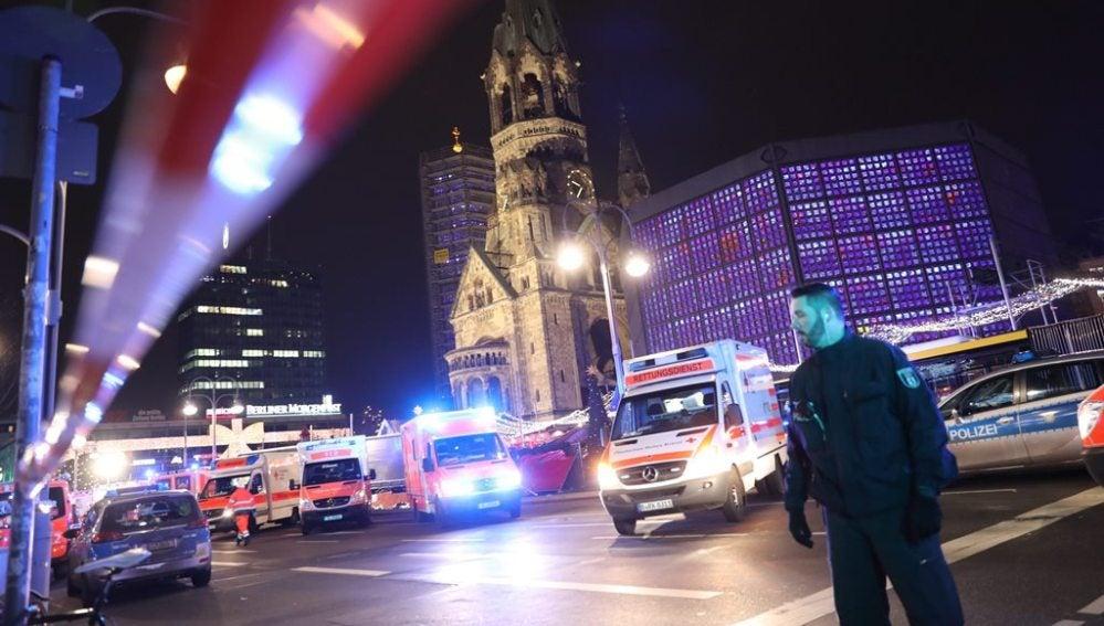 Dispositivo policial en el centro de Berlín