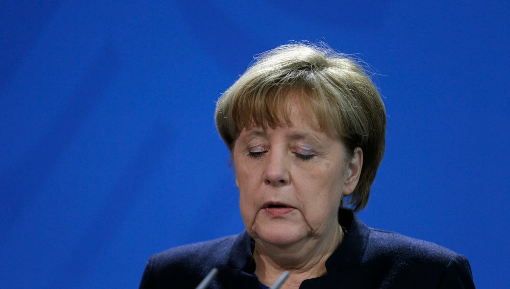 Angela Merkel durante su comparecencia ante los medios