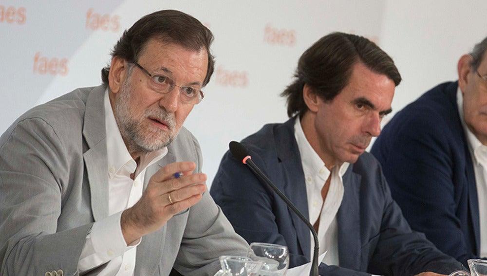Rajoy y Aznar en una imagen de archivo