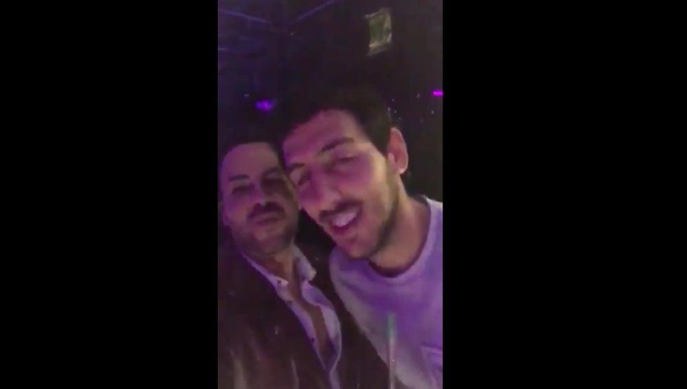Dani Parejo, pillado ebrio y fumando en una discoteca