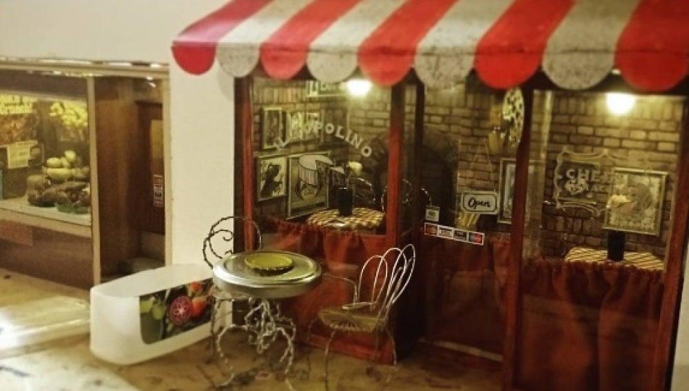 Restaurante italiano en miniatura