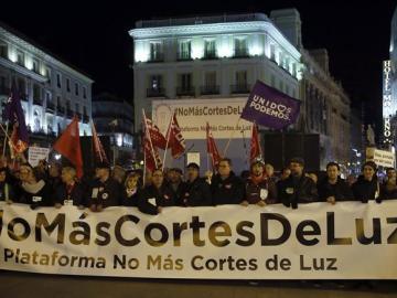 Protestas contra los cortes de luz
