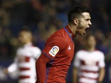 Jaime Romero celebra su gol contra el Granada