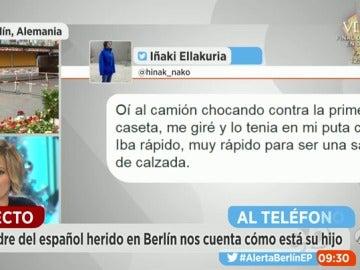 """Frame 140.746666 de: El padre del joven español herido en Berlín: """"Cuando se recupere mi hijo seguirá con el curso"""""""