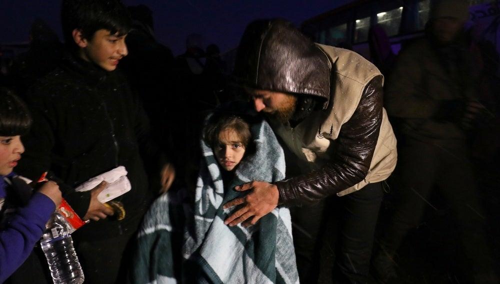 Evacuación de civiles en Alepo
