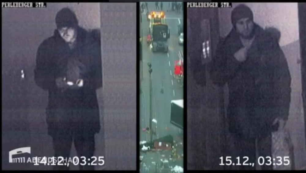 (NO UTILIZAR) El presunto terrorista de Berlín grabado por una cámara de vigilancia