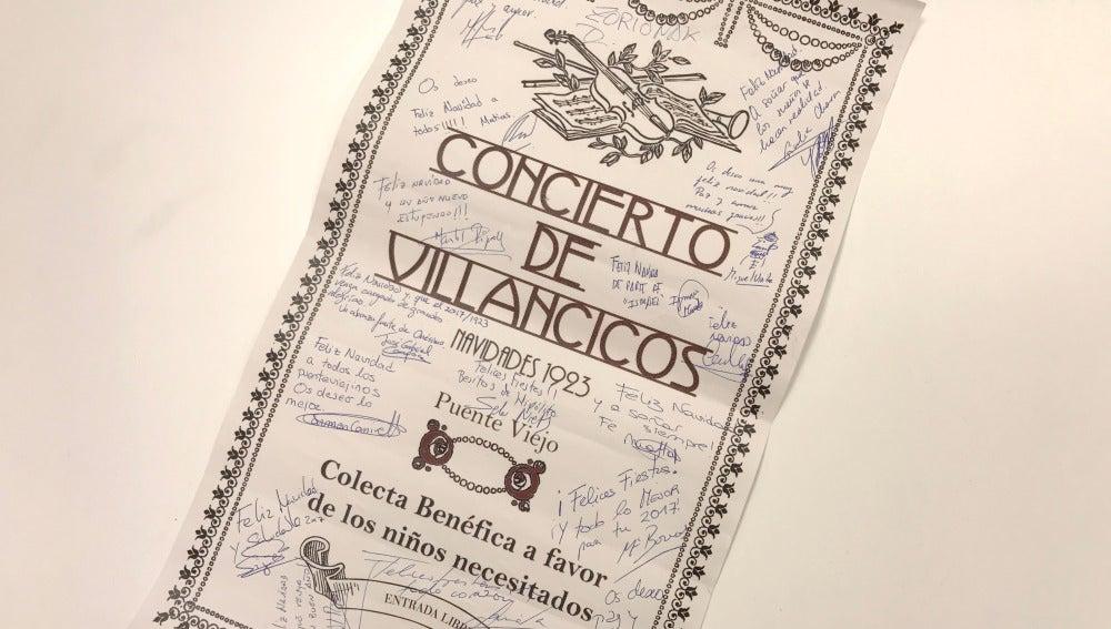 ¡Participa y consigue el cartel del concierto navideño firmado por los actores!