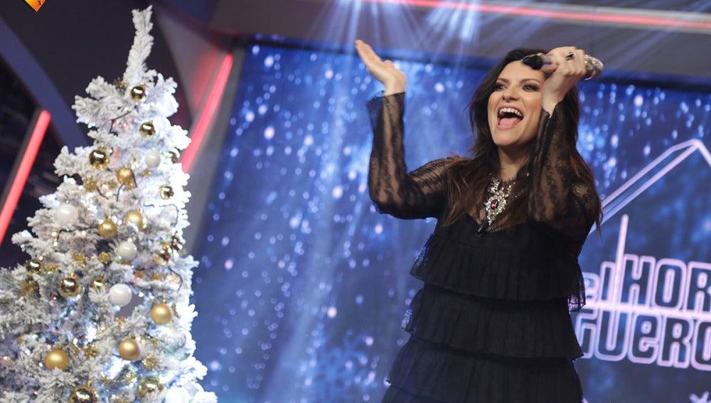 Laura Pausini canta en directo para todo el público de 'El Hormiguero'