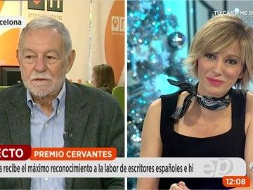 """Frame 55.898333 de: Eduardo Mendoza, nuevo ganador del Premio Cervantes: """"En España siempre tenemos presente el sentido del humor"""""""