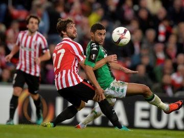 Yeray Álvarez, durante un partido con el Athletic