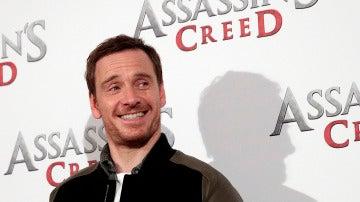 Michael Fassbender en una presentación de 'Assassin's Creed'