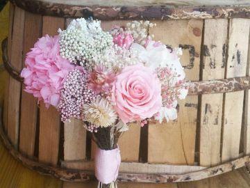 El precioso ramo de novia de Ana Rivera
