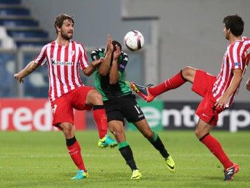 Yeray, durante un partido con el Athletic