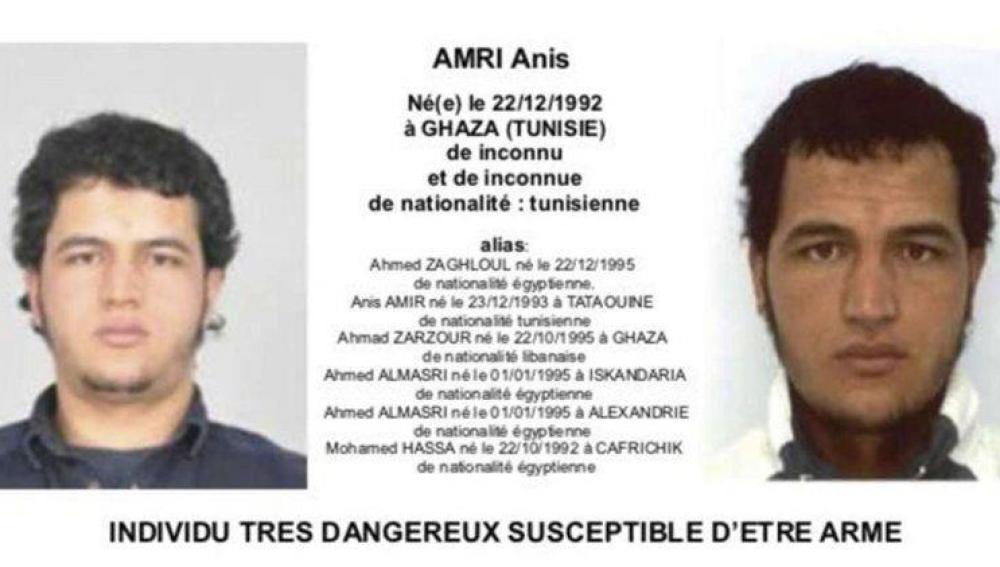 Anis Amri, sospechoso del atentado de Berlín