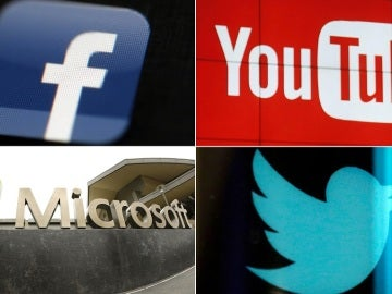 Facebook, Youtube, Microsoft y Twitter