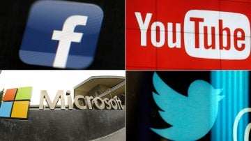 Facebook, Youtube, Microsoft y Twitter
