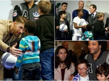 El Madrid reparte juguetes a los niños