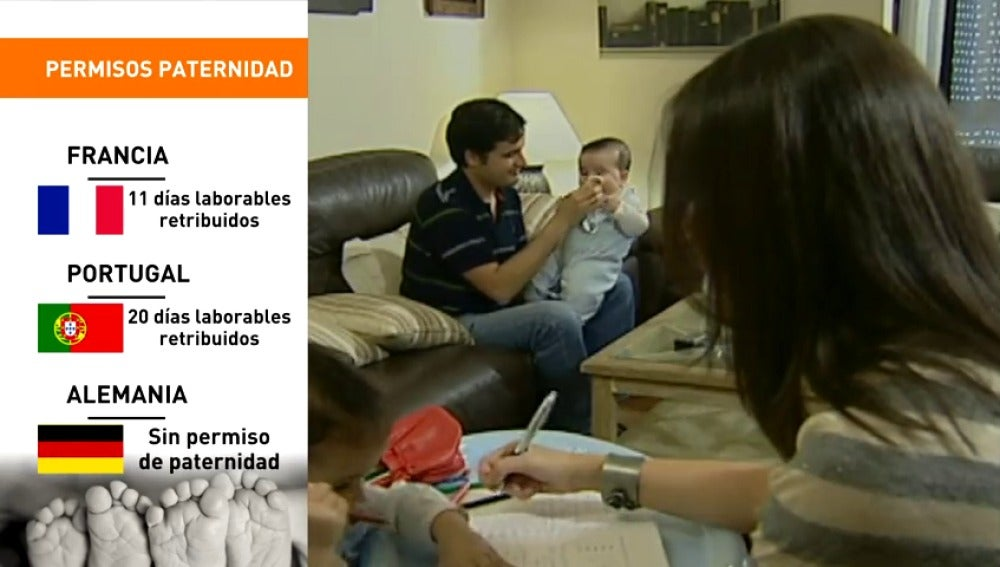 Frame 53.919178 de: Desde hoy se puede solicitar la baja de 28 días por paternidad