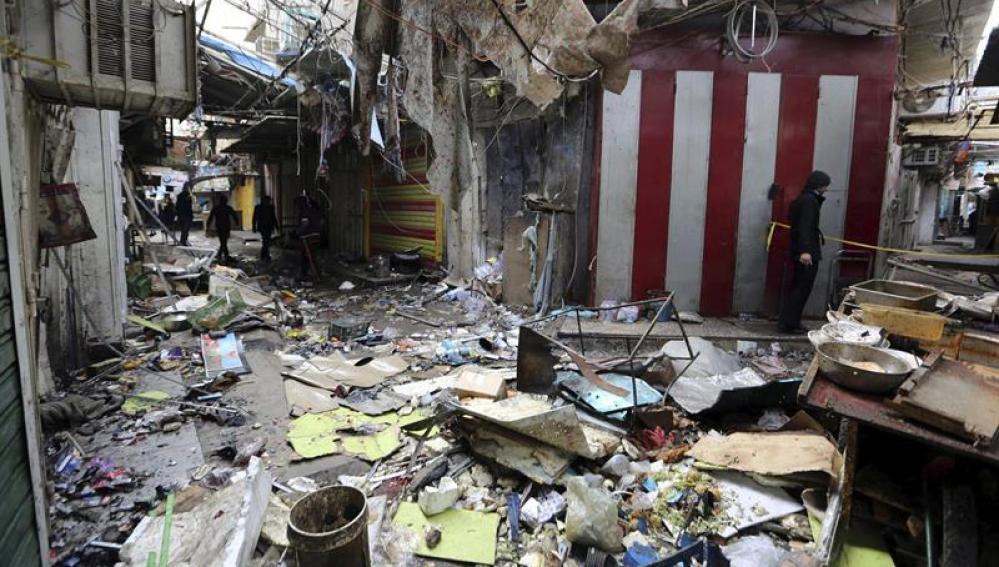 Atentado en Bagdad - Imagen de archivo