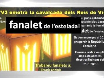 Frame 4.557038 de: La Asamblea Nacional Catalana invita a recibir a los Reyes Magos con farolillos independentistas