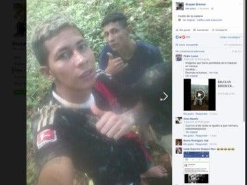 """Frame 16.377776 de: Un preso fugado de una cárcel de Brasil publica varios """"selfies"""" en redes sociales durante su huida"""
