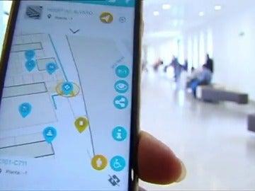 Frame 21.043545 de: Una aplicación móvil para no perderse por los pasillos del hospital