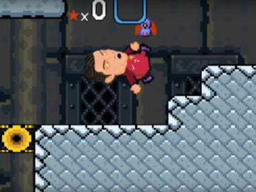 Cristiano intenta una chilena en Super Mario World