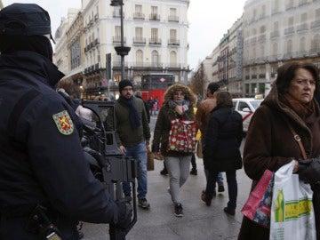 Policía en Madrid