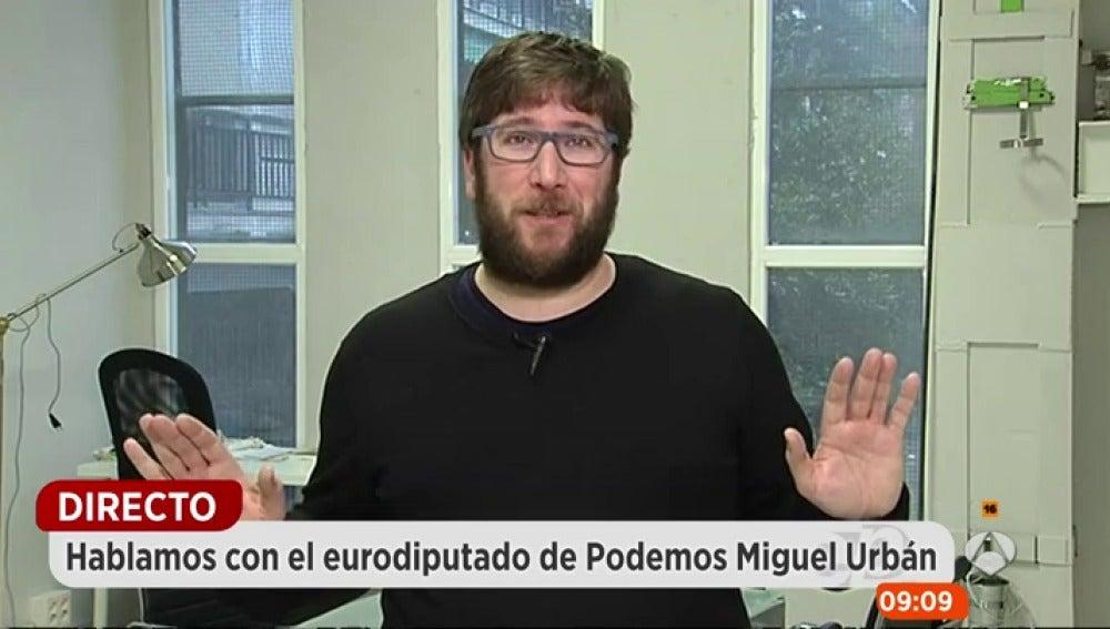 Miguel Urbán en Espejo Público