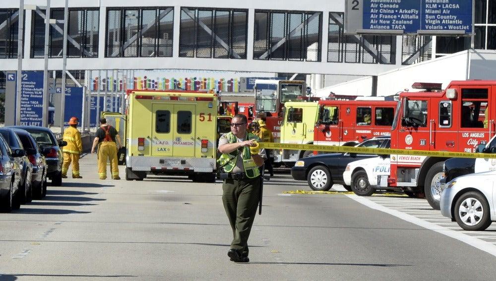 Imagen del aeropuerto de Florida tras el tiroteo.