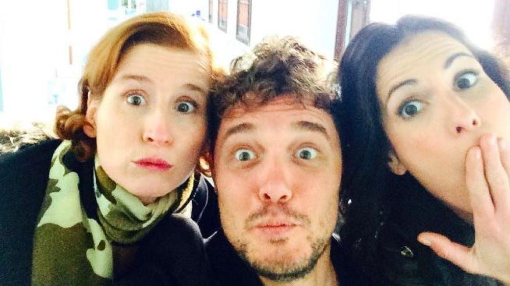 Federico Aguado visita el rodaje de 'Allí abajo' en Sevilla