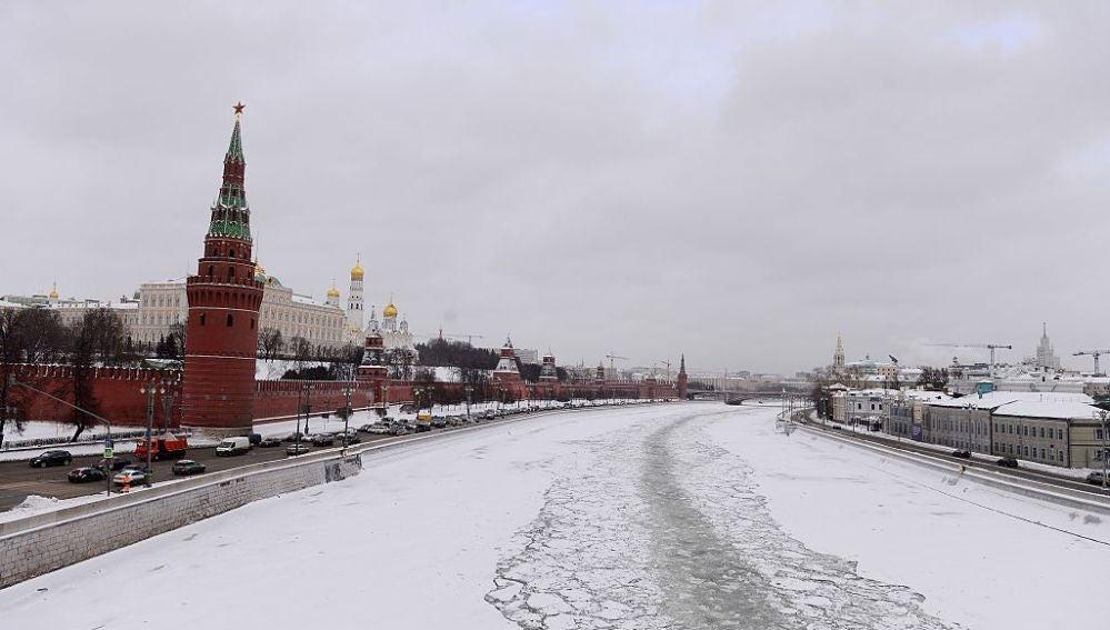 El río Moscova helado