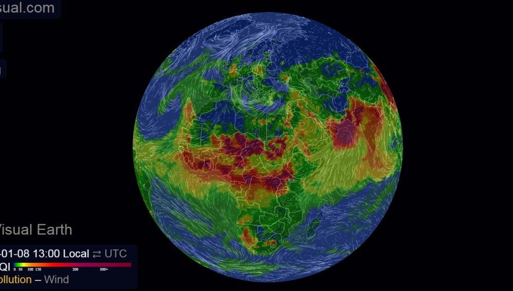 La contaminación alrededor del mundo
