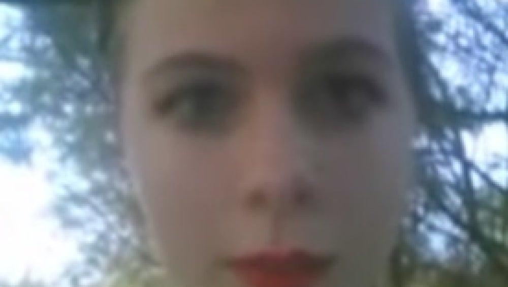 Katelyn Nicole durante la emisión en directo del vídeo en el que se suicida