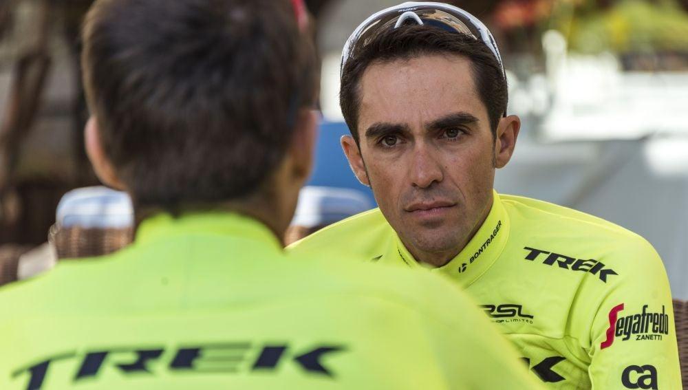 Alberto Contador, ciclista del Trek-Segrafedo