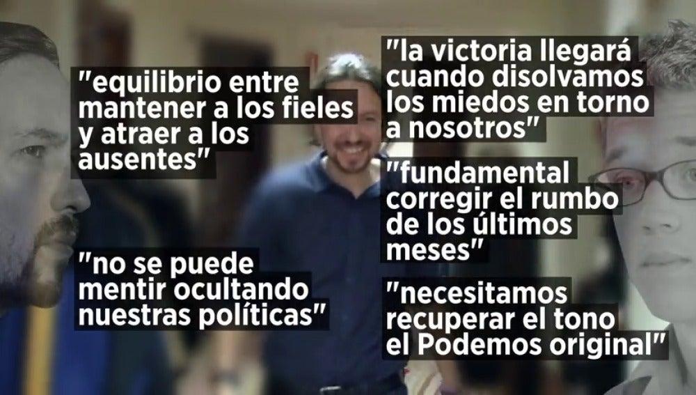 Frame 43.33865 de: Las diferencias entre Iglesias y Errejón se evidencian en sus ponencias políticas
