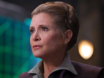 Carrie Fisher encarnando a Leia en 'El despertar de la Fuerza'