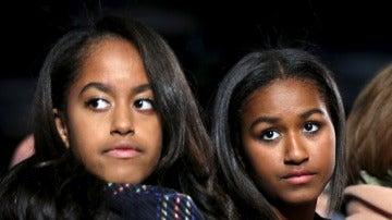 Sasha y Malia Obama