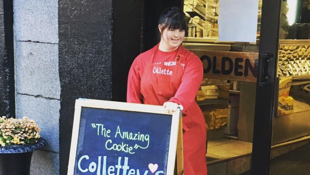 Collete anuncia sus galletas
