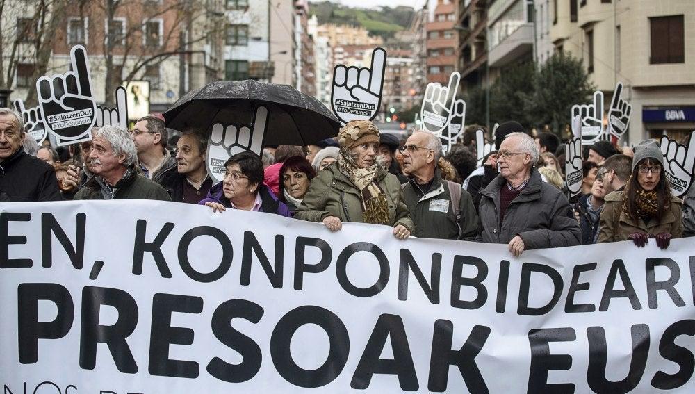 Manifestación en Bilbao contra la dispersión de presos de ETA