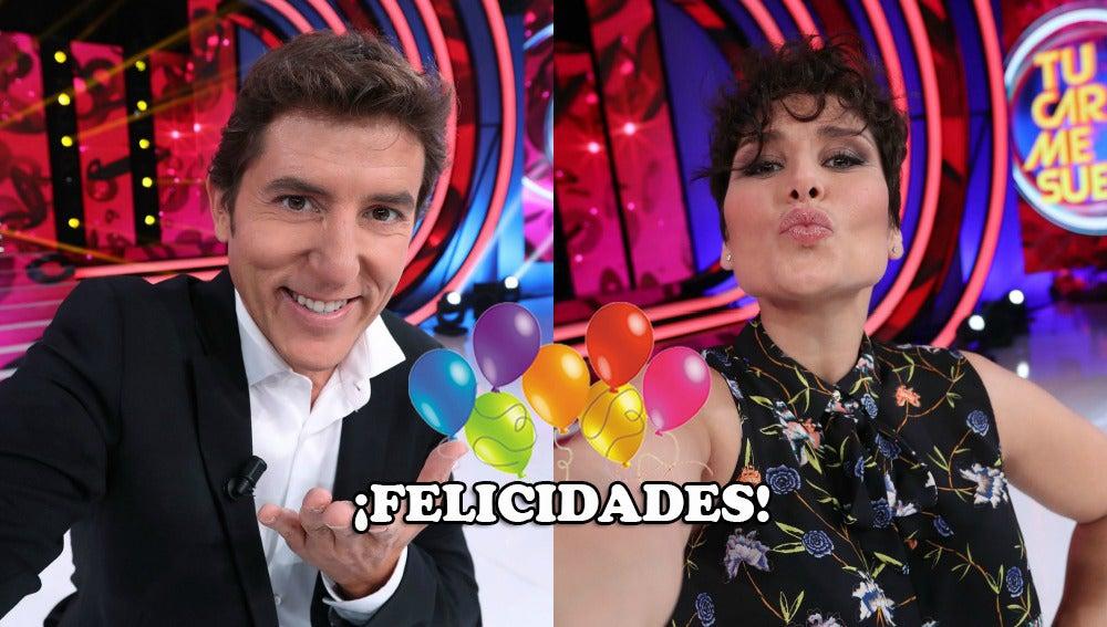 El equipo de 'Tu cara me suena' felicita a Rosa López y Manel Fuentes por su cumpleaños