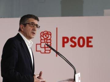 Patxi López presenta su candidatura a la Secretaría General del PSOE