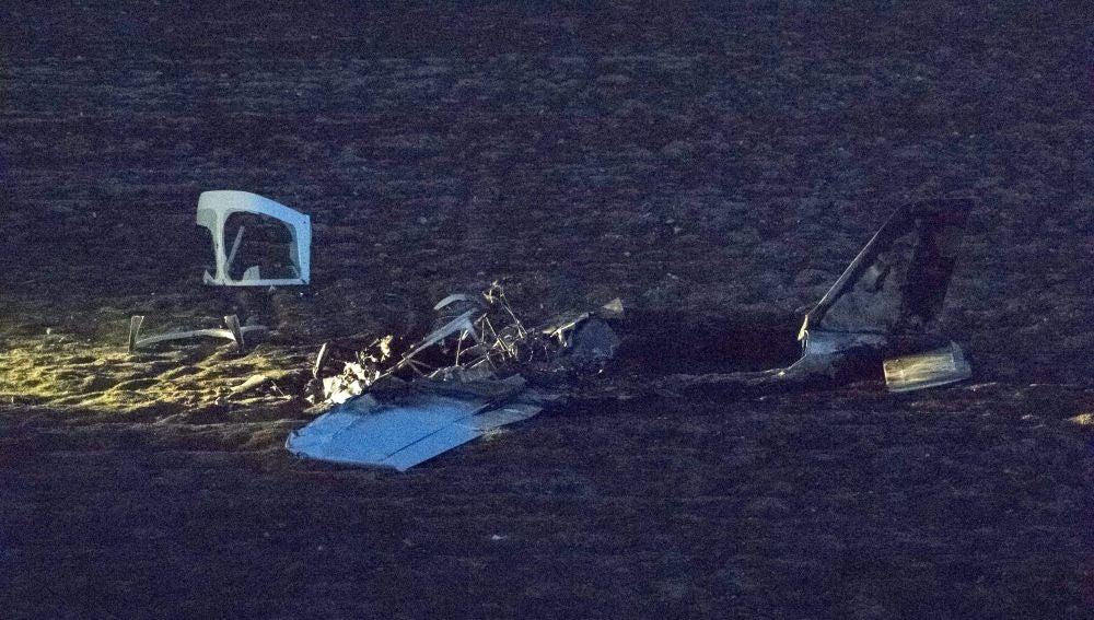 Una avioneta se estrella en Casarrubios del Monte, en Toledo