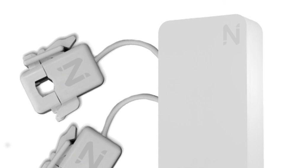 Imagen del aparato con el que el dispositivo de Nubings mide el consumo eléctrico