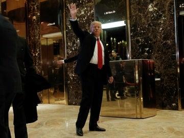Donald Trump en un hotel