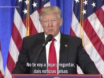 Donald Trump contra un periodista